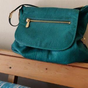 Vince Camuto Green Jewel Tone Bucket Bag